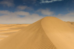 On top of a yellow sand dune Royalty Free Stock Photos
