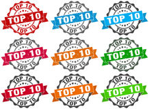 Top 10 zegel teken verbinding Stock Afbeelding