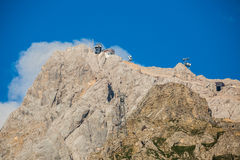 Top of the Zugspitze Stock Image