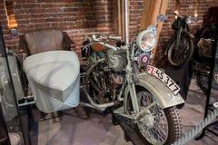 Topacz Polen - Oktober 13, 2018: Polsk motorcykel Sokol, falk Var ett märke av motorcyklar som tillverkades i Polen arkivbilder