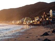 Topanga. Sunset at Topanga.  Malibu ocean front life Stock Photo