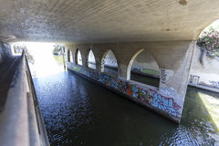 Topanga Creek Graffiti in Malibu California Royalty Free Stock Images