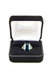 topaz кольца голубой коробки Стоковые Изображения