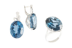 Topaz accessories set Royalty Free Stock Image