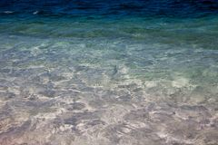 Topaz Blue Adriatic Sea Montenegrin Coastline stock photos