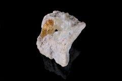 Topaz in Calcite Stock Photo