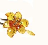 Topaz crystal flower Royalty Free Stock Photo