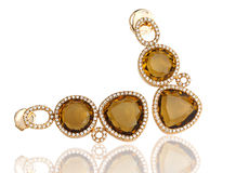 Topaz earrings Royalty Free Stock Photo