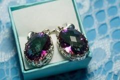 Topaz Earrings místico imagem de stock royalty free