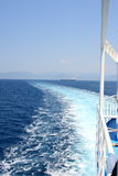 Topaz Ferry Trail. Beautiful ferry trail on the blue sea Royalty Free Stock Photography