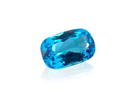 Topaz gemstone. Stock Photo