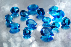 Topaz gemstones. Royalty Free Stock Images