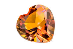 Topaz heart Stock Images