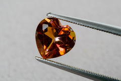 Topaz heart Royalty Free Stock Images