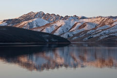 Topaz Lake Reflection stock image