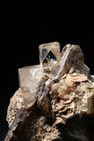 Topaz, quarts and muscovite Stock Photo
