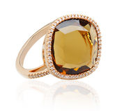 Topaz ring Stock Photography