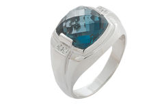 Topaz  ring Stock Image