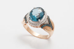 Topaz  ring Royalty Free Stock Photo