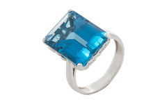 Topaz  ring Royalty Free Stock Photo