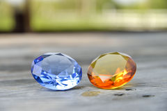 Topaz and Sapphire Stock Photo