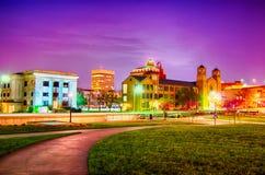 Topeka kansas downtown at night Royalty Free Stock Images