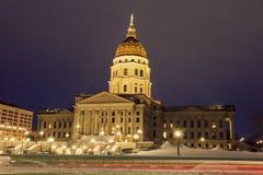 Topeka, Kansas - entrada para indicar el edificio del capitolio Imagen de archivo libre de regalías
