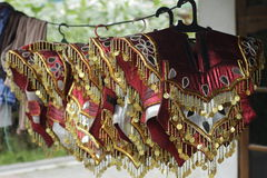 Topeng Ireng Cloak. Cloak accessories Topeng Ireng or black mask dancer in central java Indonesia Sello boyolali asia Stock Photo