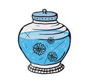 Topf mit Wasser, Vektorillustration Stockbilder