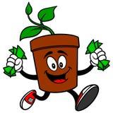 Topfpflanze mit Geld Lizenzfreie Stockfotografie