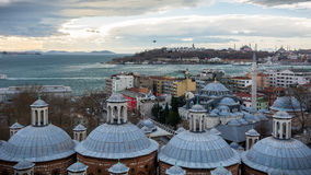 Tophane view of Istanbul. 's european side Royalty Free Stock Images
