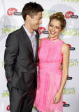 Topher Grace and Teresa Palmer Royalty Free Stock Images