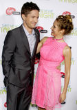 Topher Grace and Teresa Palmer Royalty Free Stock Photography