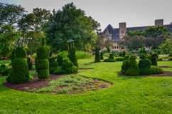 Topiary Garden - Columbus, Ohio. The Topiary Garden Park in Columbus, Ohio sits on the remnants of the Old Deaf School Park.  Though it has become affectionately Royalty Free Stock Photography