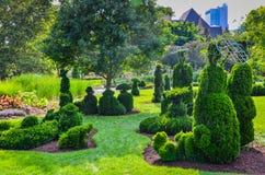 Topiaray ogród - Kolumb, Ohio obraz stock