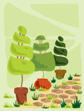 topiary ilustracja wektor