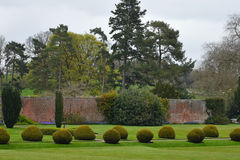 Topiary Berrington Hall, Herefordshire, England Arkivfoto