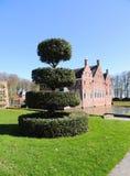 Topiary cijfer van een gedrongen hulst Regelmatig park royalty-vrije stock fotografie