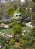 Topiary de Mickey Mouse imagen de archivo