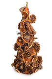 Topiary del árbol de navidad sobre el fondo blanco imágenes de archivo libres de regalías