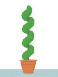 topiary drzewo royalty ilustracja