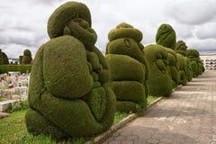 Topiary elaborado do cipreste em Tulcan Equador fotos de stock