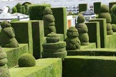 Topiary elaborado en el cementerio de Tulcan Ecuador imagen de archivo libre de regalías
