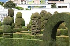 Topiary elaborado no cemitério de Tulcan Equador foto de stock royalty free