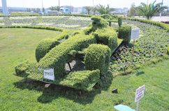 Topiary F1 bolide Stock Photo