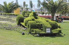 Topiary F1 bolide Royalty Free Stock Images