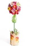 Topiary floral con los pensamientos artifitial imágenes de archivo libres de regalías