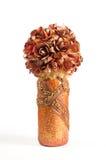 Topiary floral em cores douradas Fotografia de Stock