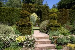 Topiary Garden Entrance Stock Photo