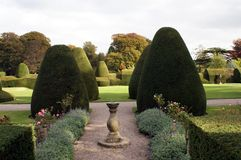 Topiary garden with a sundial Stock Image